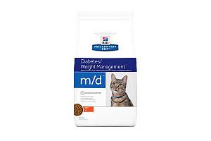 Hills Prescription Diet m/d Diabetes/Weight Management сухой корм для кошек, курица, 1.5 кг