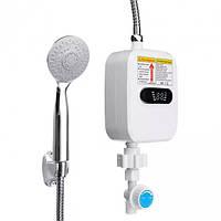 Термостатический проточный водонагреватель Delimano RX-021 с экраном и душем