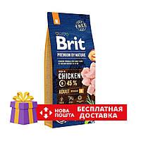 Сухой корм Brit Premium Adult M 15 кг для взрослых собак средних пород с курицей