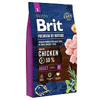 Brit Premium Adult S 8 кг - Сухой корм для взрослых собак мелких пород с курицей