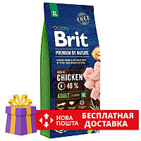 Сухий корм Brit Premium Adult XL 15 кг для дорослих собак гігантських порід з куркою