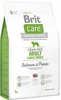 Brit Care GF Adult Large Breed Salmon & Potatoes 3 кг - корм для собак вагою від 25 кг c лососем і картоплею