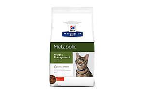 Hills Prescription Diet Metabolic Weight Management сухой корм для кошек, курица, 4 кг