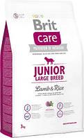 Brit Care Junior Large Breed Lamb & rice 3 кг - корм для цуценят великих порід з ягням і рисом