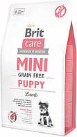 Brit Care Mini Grain Free Puppy 2 кг беззерновой гіпоалергенний корм для цуценят мініатюрних порід