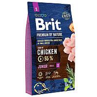 Brit Premium Junior S 8 кг - Сухой корм для щенков и молодых собак мелких пород с курицей