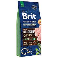 Brit Premium Junior XL15 кг - Сухой корм для щенков и молодых собак гигантских пород с курицей