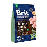 Brit Premium Junior XL сухой корм для щенков и молодых собак гигантских пород с курицей 3 кг