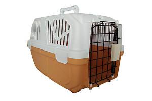 Переноска AnimAll для котов и собак 52х35х33 см, оранжевая