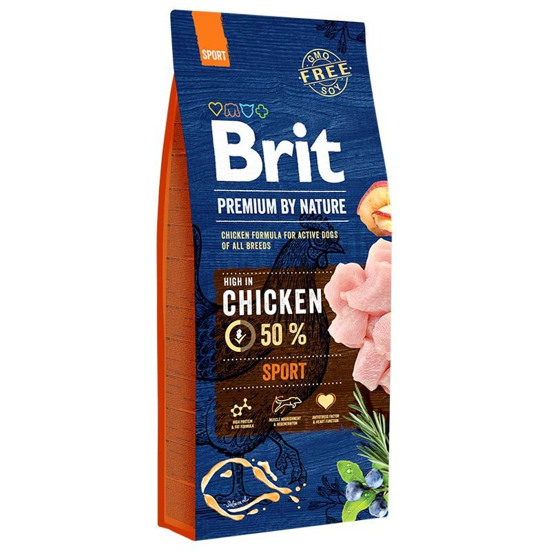 Brit Premium Sport 15 кг - Сухий корм для активних собак з підвищеною фізичним навантаженням з куркою