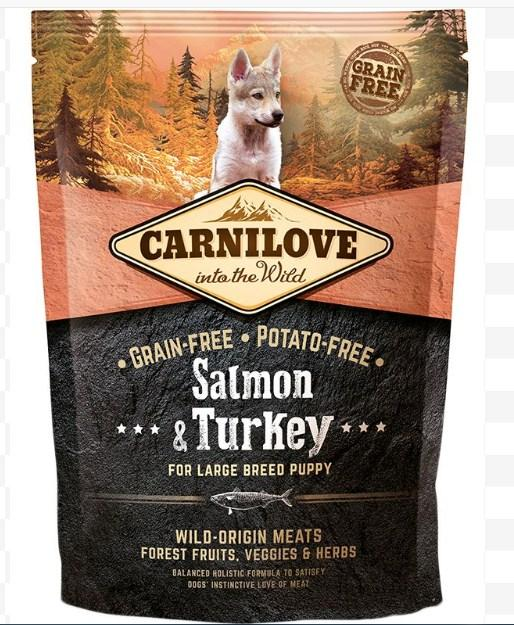 Carnilove Puppy Large Salmon & Turkey сухий повнораціонний беззерновой корм для цуценят і молодих собак всіх