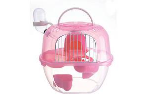 Клітка AnimAll Apple Style для хом'яка, 20.5х18х22.5 см, рожева