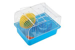 Клітка AnimAll Cube для хом'яка 23.2x17х12 см, блакитна