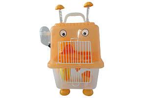 Клетка для хомяка AnimAll Robotic, 20.7x19x36 см, оранжевая