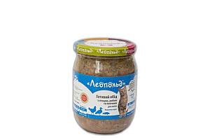Консерва Леопольд деликатес для котов с птицей, рыбой и овощами, 500 г