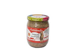 Консерва Леопольд деликатес для котов с телятиной и креветками, 500 г