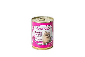 Консерва Леопольд для котов, рацион с индейкой, 360 г