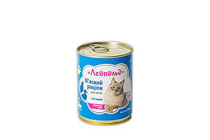 Консерва Леопольд для котов, рацион с птицей, 360 г
