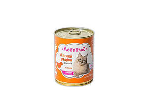 Консерва Леопольд для котов, рацион с ягненком, 360 г