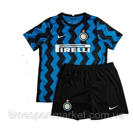 Футбольная форма Интер Милан домашная 2020-2021 (Футболка+шорты), фото 2