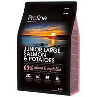 Profine Junior Large Breed Salmon & Potatoes сухий корм для молодих собак великих порід з лососем і картоплею