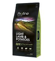 Profine Light Lamb & Potatoes сухий корм для оптимізації ваги у собаки з ягням і картоплею 15 кг