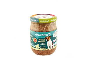 Консерва Леопольд для собак деликатес с курицей и морковью, 500 г