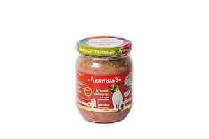 Консерва Леопольд для собак деликатес с мясом и овощами, 500 г
