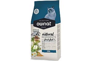 Ownat Classic Fish (Cat) 4 кг сухой корм для взрослых кошек с рыбой