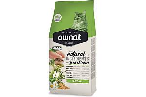Ownat Classic Hairball (Cat) 4 кг сухой корм для кошек для выведения шерсти из организма