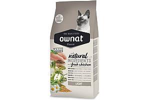 Ownat Classic Light (Cat) 4 кг сухой корм для взрослых кошек, склонных к набору веса