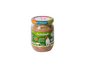 Консерва Леопольд для собак деликатес с телятиной, 500 г