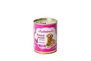Консерва Леопольд для собак, рацион с индейкой, 360 г