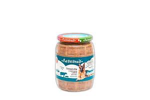 Консерва Леопольд мясной корм для собак с телятиной и рыбой, 720 г