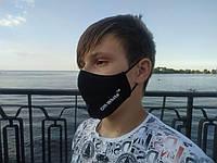 Маска многоразовая тканевая защитная черная OFF на лицо, маска для рта