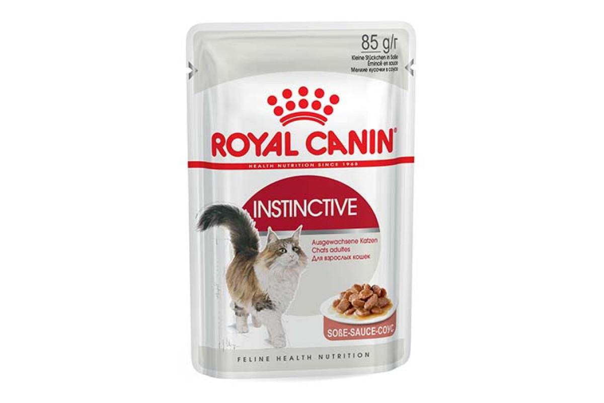Royal Canin Instinctive 85 г х 12 - вологий корм в соусі для котів від 1 року
