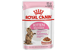 Royal Canin Kitten Sterilised 85 г х 12 - влажный корм для стерилизованных котят от 4 до 12 месяцев