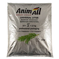 New AnimAll 12 кг - Древесный наполнитель для котов