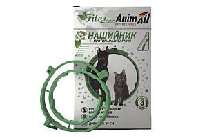 AnimAll FitoLine Nature ошейник против блох и клещей для кошек и собак, 35 см зеленый