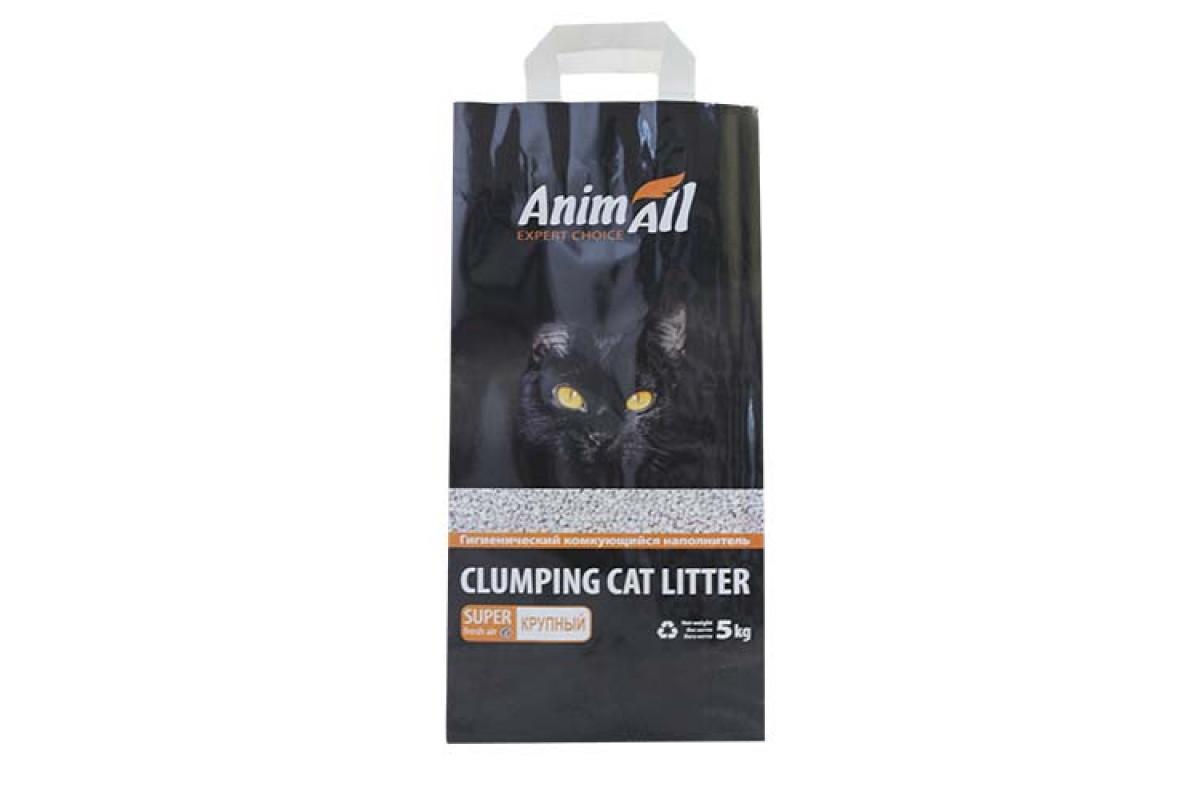 AnimAll крупная фракция, 5 кг - бентонитовый наполнитель для котов