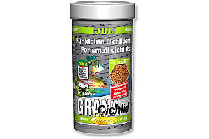 JBL GranaCichlid основной корм премиум-класса в форме гранул для хищных цихлид, 250 мл
