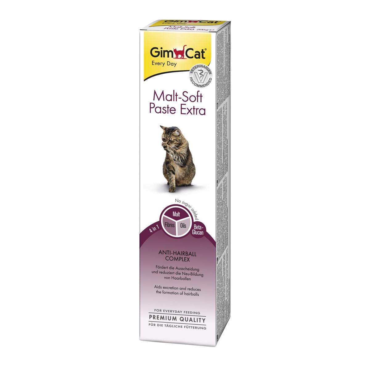 Gimcat «Мальт-Софт-Екстра» 200 г - Паста для виведення грудок вовни у кішок