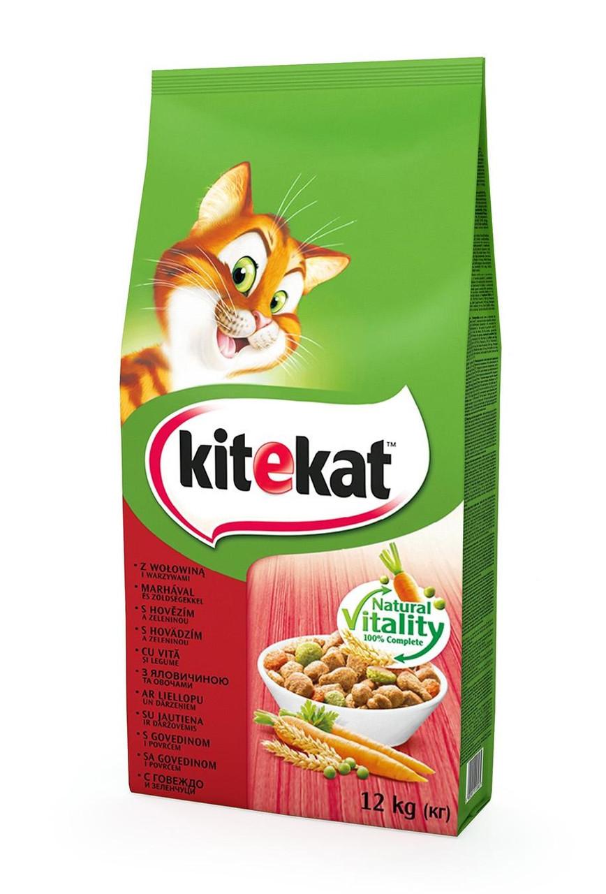 Kitekat Говядина с овощами 12 кг - Сухой корм для котов