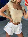 Укороченная женская футболка топ с квадратным вырезом (р. 42-44) 9017514, фото 8