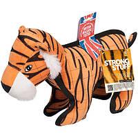 Flamingo Strong Tiger ФЛАМИНГО ТИГР суперпрочная мягкая игрушка для собак, 28х9,5х28 см 38х14х28 см