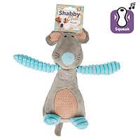 Flamingo Shabby Chic Mouse ФЛАМИНГО ШЕБИ ШИК МЫШЬ игрушка для собак, с пищалкой 25х12 см