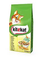Kitekat Курочка с овощами 12 кг - Сухой корм для котов