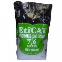 Наполнитель силиконовый для кошачьего туалета EtiCAT 7,6 л зеленый 3,2 кг