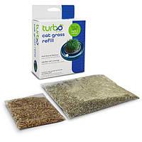 Coastal Turbo Cat Grass Refill КОСТАЛ ТУРБО ГРАС РИФИЛ трава для котов, зерна пшеницы, вермикулит