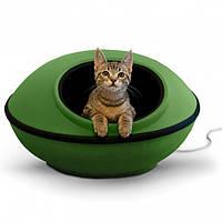 K&H Thermo-Mod Dream Pod лежак-домик с электроподогревом для котов зеленый/черный